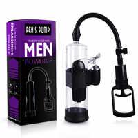 Vibrating Penis Pump Penis Enlarger Erection Adult Sex toys for Man Penis Enlargement Male Extender Men Enhancer Pump Sleeves