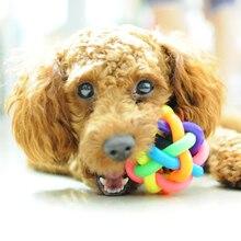 5 см красочные радужные игрушки для домашних животных, колокольчик, игрушка для собак, игрушки для кошек, мяч для комнатной собаки, колокольчик, жевательные игрушки, игрушки для обучения чистке зубов, товары для домашних животных