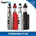 100% original kangertech topbox mini kit vape 75 w w/kanger kbox mini Mod e 4 ml TOPTANK Mini Tanque vs 75 W KBOX Mini Caixa de Mod
