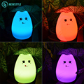 Colorful Silicon Animal Light USB LED Night Light Soft Cartoon Changing LED Lamp 2 Modes Children Night Lamp Free Shipping