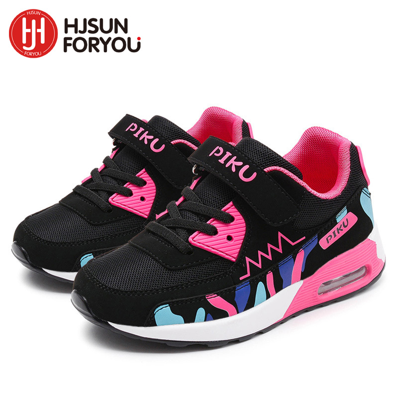 2018 Children Casual Shoes Boys and Airls Comfortable Elastic Air Cushion Shoes Fashion Kids Sneakers Breathable Sport Shoes