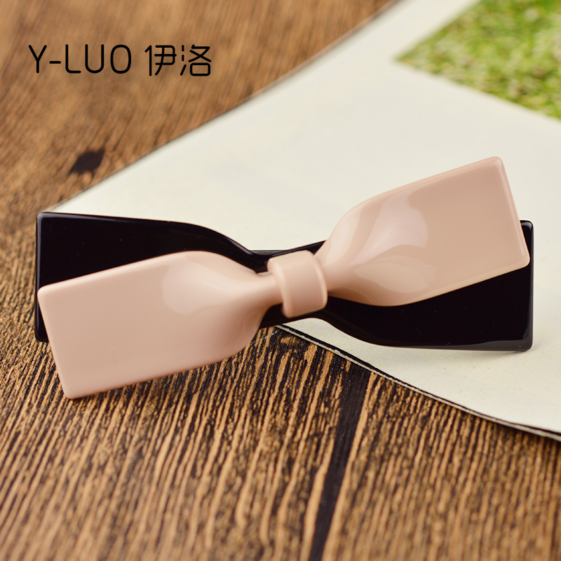 Women headwear 2017 bow hair clip for women cute hair barrette pink hair accessories for girls women headwear gift rhinestone hair claw butterfly flower hair clip 5 5cm long middle size bow hair accessories for girls