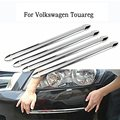 4pcs/set Silver Chrome Bumper Corner Guard Protector For Car Auto Decoration Strip Car Styling For Volkswagen Touareg