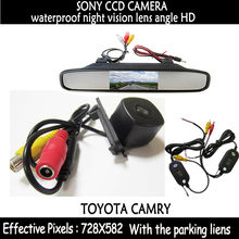 2.4 ГГц беспроводной SONY CCD чип вид сзади автомобиля обратная парковка камера + 4.3 дюймов монитор заднего вида для toyota camry 2008