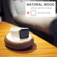 Natural Wood Apple Watch Charging Stand for Apple iWatch