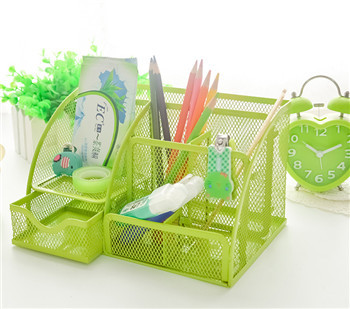 Cute Colorful Metal Stationery Holder Pen/Pencil Holder For Pen Stand Office