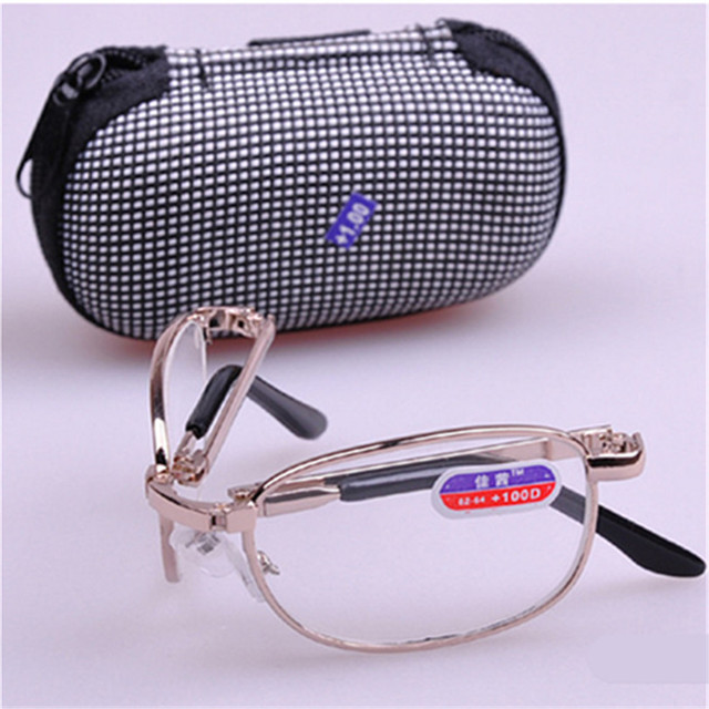 Foldable Presbyopia Reading Glasses WITH BOX Men Women Folding Reading Glasses Male Female 1.0 1.5 2.0 2.5 3.0 3.5 4.0