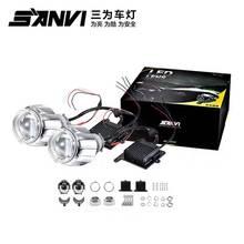 Sanvi h4 h7 9006 car headlight replacement bi-led projector lens xenon projector lens hid