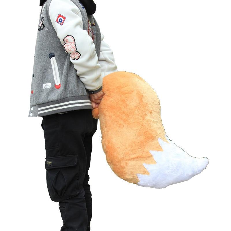 Sewayaki Kitsune No Senko san pour Cosplay, accessoires de Cosplay à queue de renard, pour poupée en peluche, coussin, motif animé, 83cm, livraison directe |