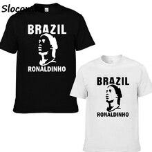 e45308107 Men Ronaldinho 10 Ronaldo de Assis Moreira ac barcelona milan Brazil Legend  T-shirt Clothes