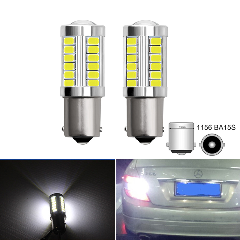2x P21W 1156 BA15S LED Car Reverse Lamp Backup Lights For <font><b>Mercedes</b></font> W203 W204 C Class C180 C200 C250 C63 C280 <font><b>C300</b></font> C350 2007-2014 image