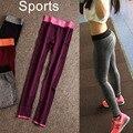 2016 Caliente!! Fitness Ropa Deportiva Elástica de Flexión de brazos de Entrenamiento Leggings Mujeres Fitness Legging Leggins Pantalones Para Las Mujeres