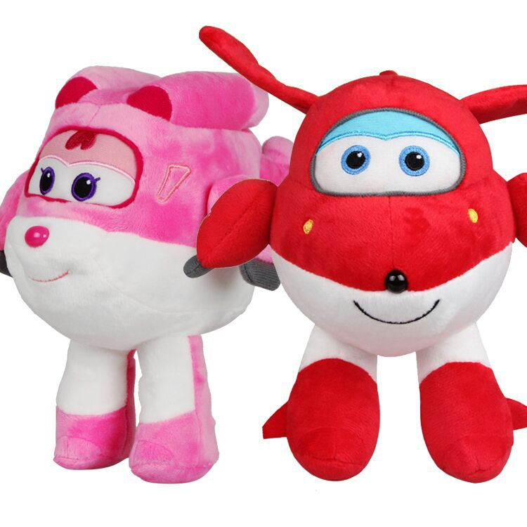 2017 New Super Wings plush toys 20/30 cm cute cartoon soft stuffed dolls kids gift funny emoji cartoon face plush toys keychain pendant cute soft stuffed qq mini dolls round smile keyring gift