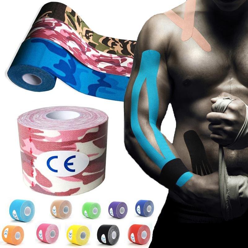 Maxkare 2.5CM* 5M Muscle Tape Kinesio Elbow Knee Kneepads Elastic Bandage Taping Knee Tactical Pad Kinesiology Adhesive Tape