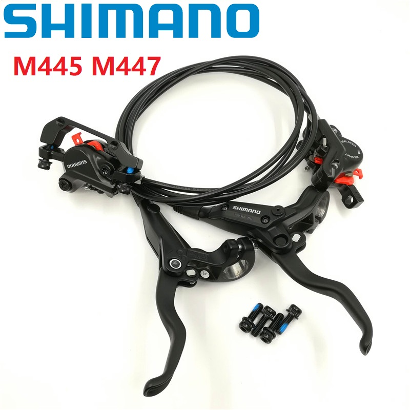 SHIMANO BL/BR M445 M446 M447 Hydraulic Disc Brake Single Front/Rear Brake Levers & Caliper With Pads Mountain Bike AccessoriesSHIMANO BL/BR M445 M446 M447 Hydraulic Disc Brake Single Front/Rear Brake Levers & Caliper With Pads Mountain Bike Accessories