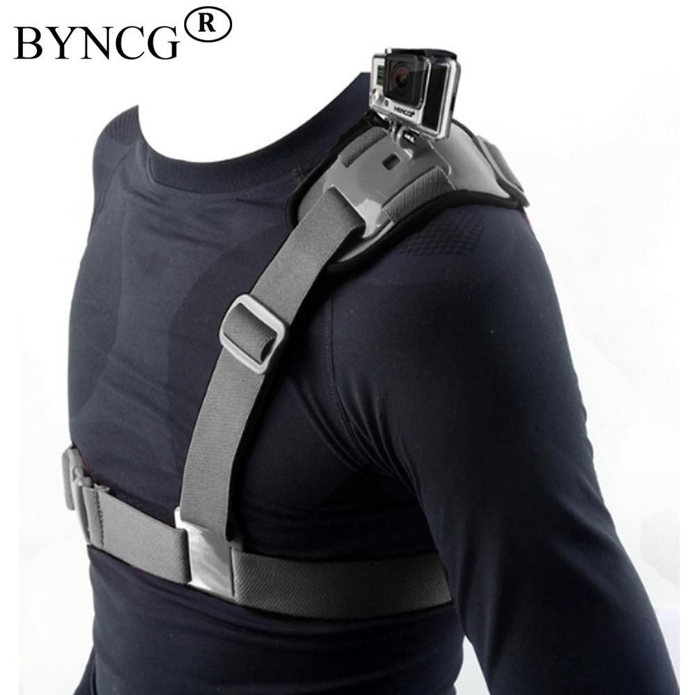 BYNCG für Gopro Zubehör Schultergurt Berg Chest Harness Adapter Für Gehen Pro hero 6 4 5 Hero3 2 3 Black Edition Xiaomi Yi