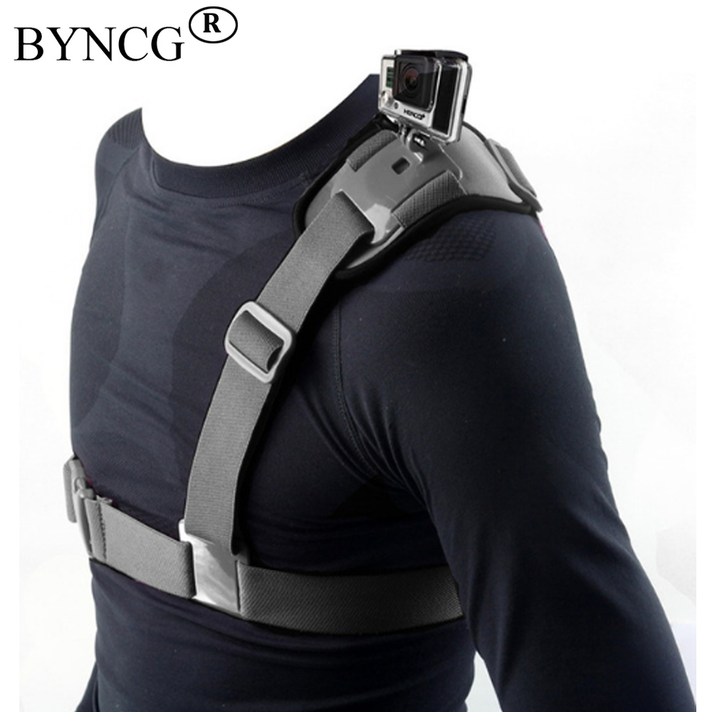 BYNCG for Gopro Accessories Shoulder Strap Mount Chest Harness Adapter For Go Pro hero 6 4 5 Hero3 2 3 Black Edition Xiaomi Yi