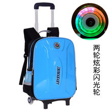 Children Trolley Backpack School Bags For boys Grils Wheeled Bag Student Detachable Rolling Backpacks Women travel bag Mochila(China)