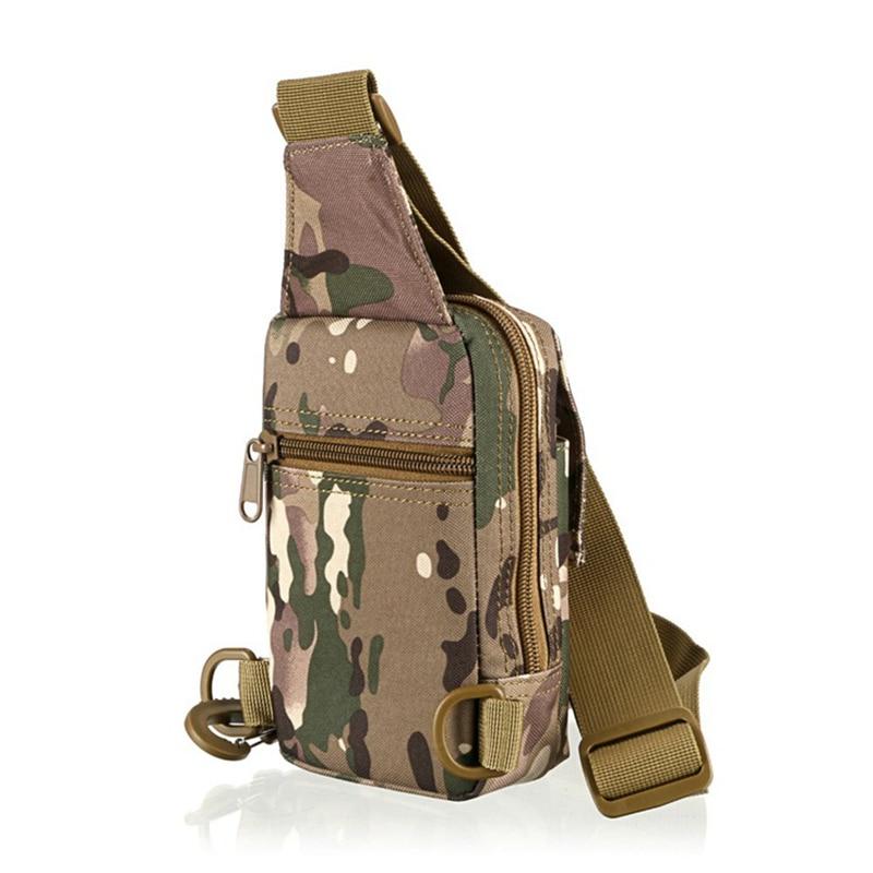 High Quality!Outdoor Tactical Nylon Sport Utility Camouflage Chest Bags Men Riding Climbing Shoulder Bag Diagonal Bag