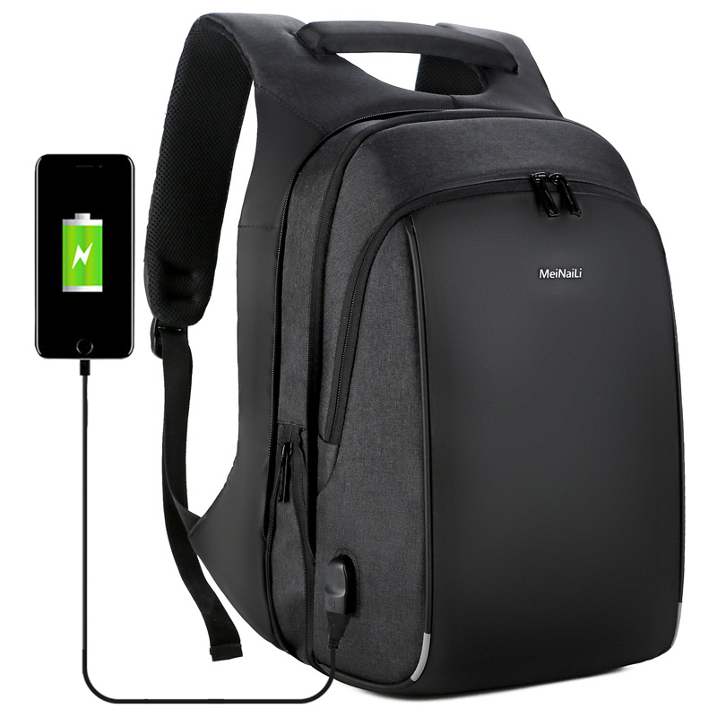 Business Men s Backpack USB Charging Anti Theft 15 6Inch Laptop Back Pack Male Large Capacity