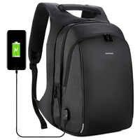 ビジネスの男性のバックパック USB 充電抗盗難 15.6 インチのラップトップバックパック男性大容量カレッジスクールバッグ旅行 bagpack