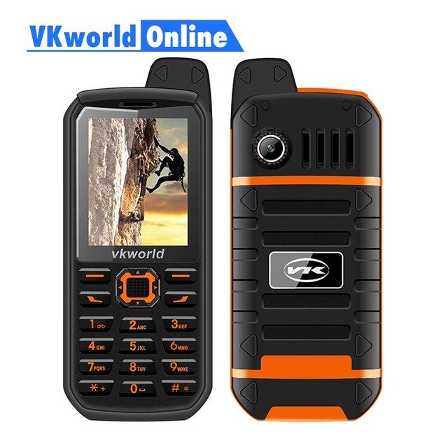 Vkworld V3 Plus Mobile Phone 3000mAh Long Standby 2.4inch IP54 Waterproof Dustproof Cellphone Dual Sim GSM FM Radio