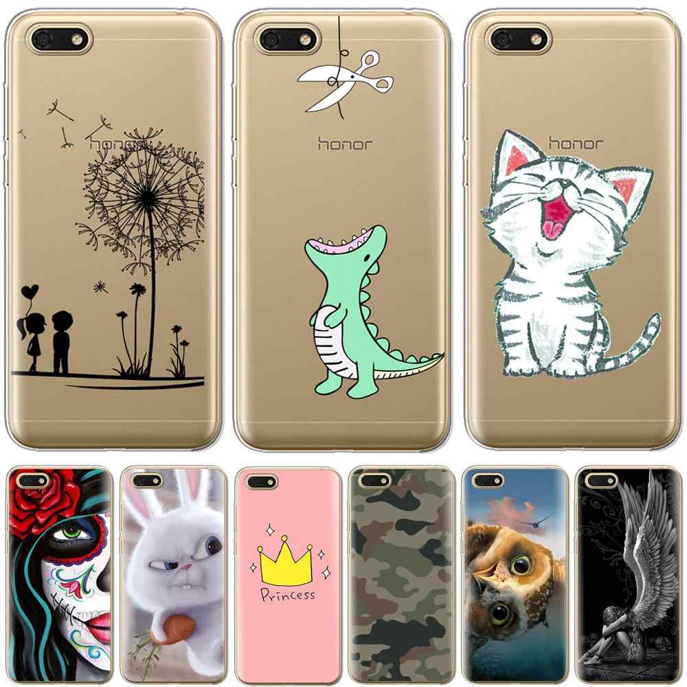 "Soft TPU Silicone case For Huawei Honor 7A Case 5.45"" Phone Case on Huawei Honor 7A 7 A DUA-L22 Russian Back Cover Coque bumper"