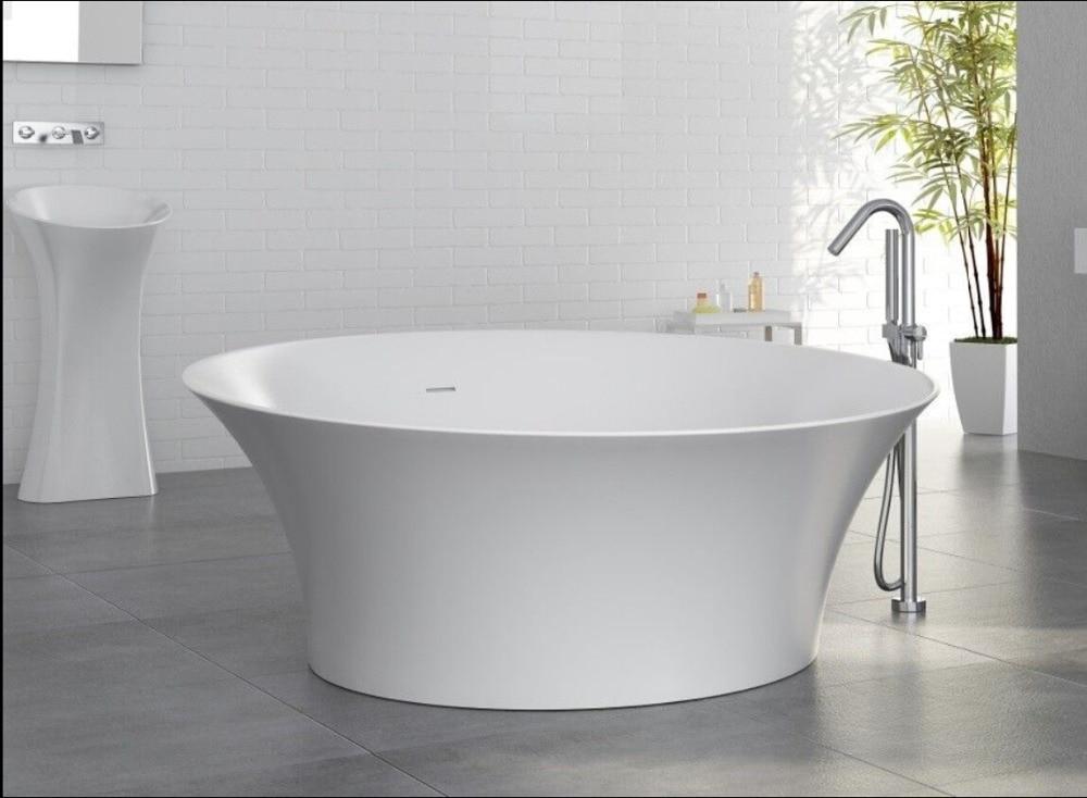 Vasca Da Bagno Freestanding Rotonda : Mm superficie solida pietra cupc approvazione
