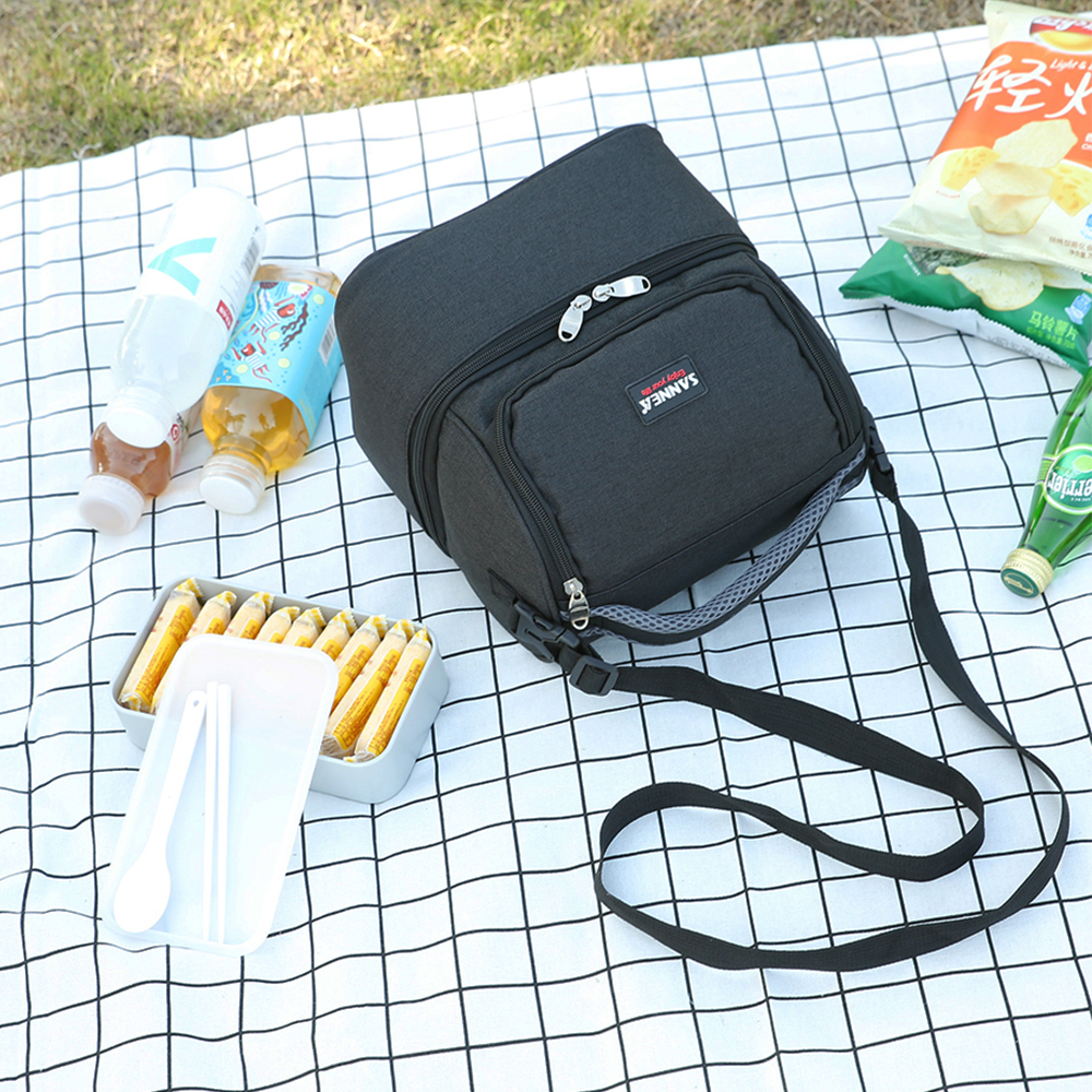 Image 4 - Lixada 7L Double Deck Insulated Bag Cooler Lunch Tote Bento Cooler Outdoor Camping BBQ Picnic Cooler Tote Bag-in Picnic Bags from Sports & Entertainment