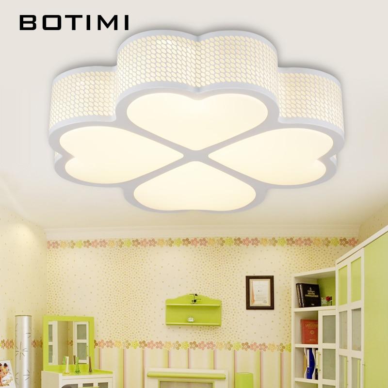 BOTIMI Kids LED Ceiling Lights Luminaria LED Lighting Fixture For Living Room Dining Room Pink White Black Bedroom Lamps