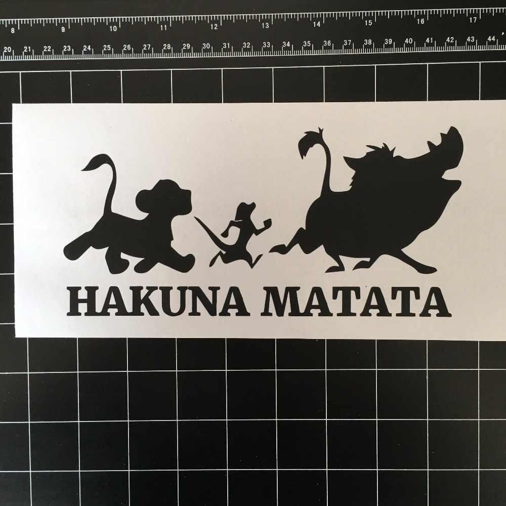 Hakuna Matata Lion King Simba Kartun Mobil Jendela Vinyl Decal Sticker Art Decor Removable Wall Sticker L28