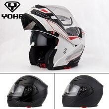 Yohe Helmet 4 color Full face Moto Helmet Motorbike ABS Unisex Motorcycle Helmet Dot high quality Flip up Helmet  958