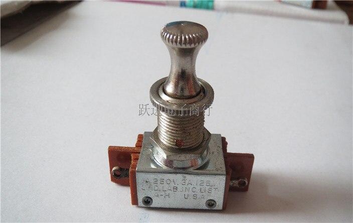 [VK] Import USA A-H interrupteur à tirer 1A250V 4 broches 4 pieds interrupteur d'alimentation ouverture 12 MM verrouillage automatique