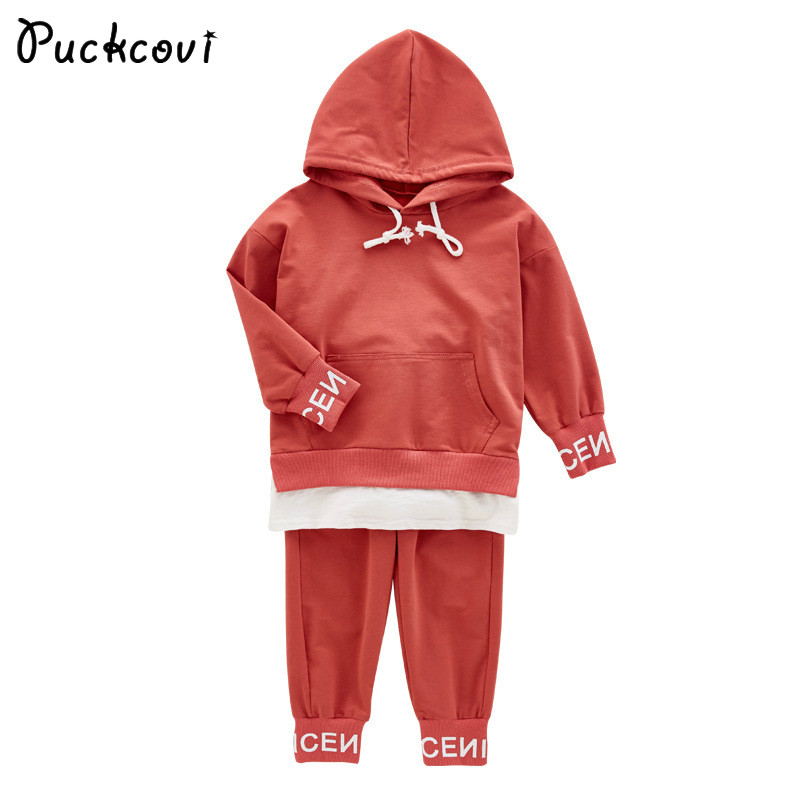 Kids clothes Girls clothing sets Chirldren sports suits Roupas infantis menina  hooded t-shirt+pants suit Age for 3-13y girls clothes children clothing 2017 brand girl clothing sets roupas infantis animal casual kids clothes