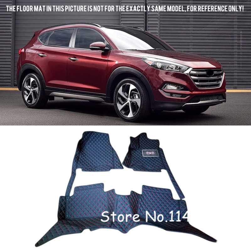 For  Hyundai Tucson 2015 2016 2017 Special Waterproof  Auto Custom Car Floor Mats Floor liner pads special car trunk mats for toyota all models corolla camry rav4 auris prius yalis avensis 2014 accessories car styling auto