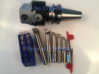 New BT40 M16 arbor F1 18 75mm boring head and shank 18mm 6pcs boring bar and 30pcs carbide inserts