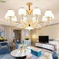 Современные золотые металлические светодиодные люстры  освещение для гостиной  хрустальные светодиодные подвесные люстры  светильники дл...
