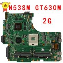 N53SV N53SM REV2.0 Madre Original Del Ordenador Portátil (Placa Base) 2G GT630M 4 Ranuras de MEMORIA RAM Probado Bien