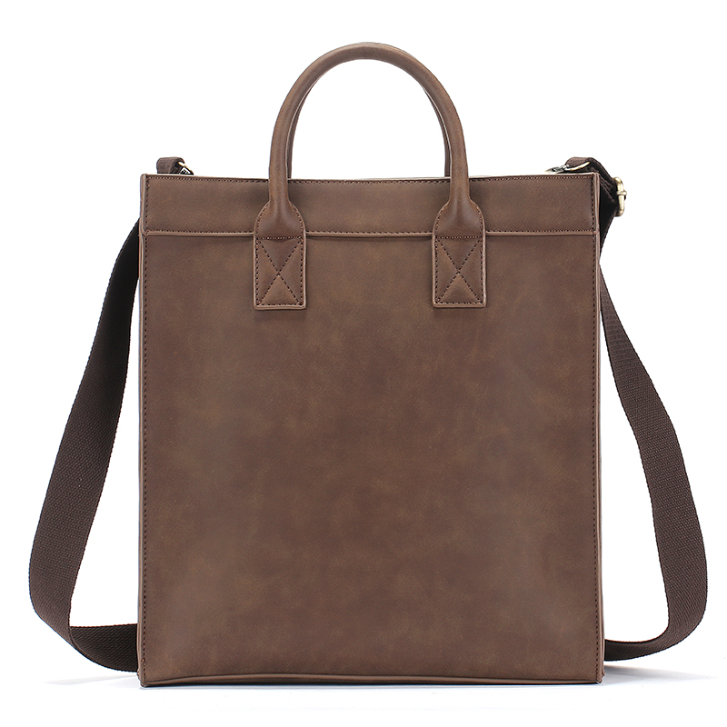 "14 ""vintage Leder-aktentaschen Männer Business Schulter Handtasche Tasche Crazy Horse Leder Hohe Qualität"