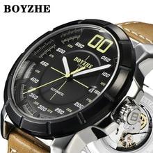 лучшая цена Mechanical Watch Men Automatic Tourbillon Reloj Hombre Luxury Brand Watches Mens Sports Watch Leather Montre Homme Dropshipping