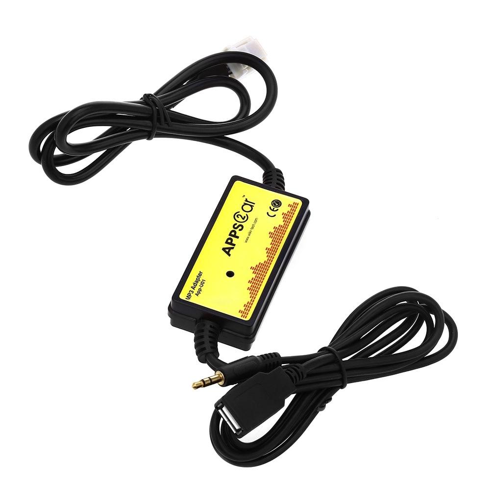 2018 Nouvelle Voiture CD Adaptateur MP3 Audio Interface AUX SD USB données Câble Adaptateur 12 P Connecter CD Changeur pour Toyota Lexus Scion