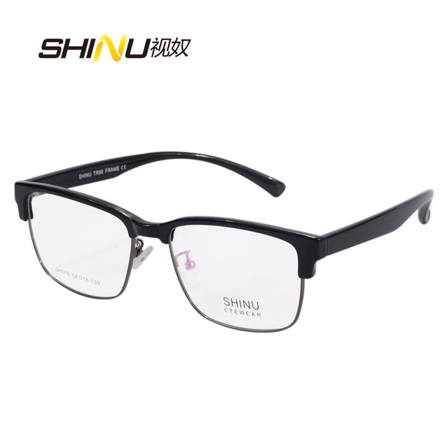 b2b0140b9376b SHINU Marca Óculos Mulheres Homens Óculos de Leitura Multifocal Progressiva  Lente de Foco Longo Visão Miopia