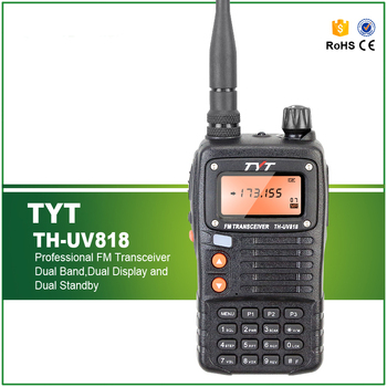 Free Shipping 5W TYT TH-UV818 Original Walkie Talkie Ham Handheld Transceiver 2 Way Radio