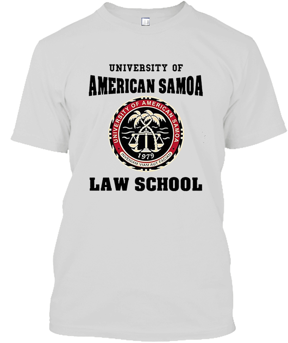 Design Template University Of American Samoa Law School Dt Adult T-Shirt Tee Men'S Casual Short O-Neck Tee Shirts BOSKIYME image
