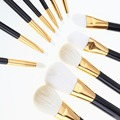 Pincel de Maquiagem profissional 12 Pcs Cosméticos Make Up Brushes Set Kit Contorno Fundação Eye Sombra Eyeshadow Blending Pencil Pincel Delineador