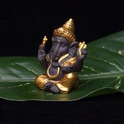 Ganesha estátua buda monge índia cerâmica artes artesanato sala de estar escritório em casa armários decoração elefante deus casa decoração
