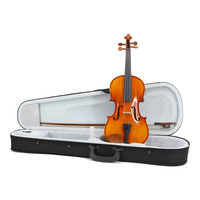 High Quality Full Size 4/4 Acoustic Violin for Student Beginner handcraft Violin With Case Bow Manual Oil Varnish Paint Fiddle