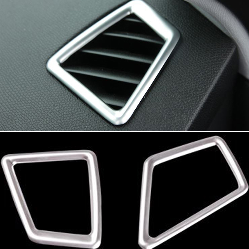 Chrome trim Top Air-conditioning Outlet Cover Car Accessories For <font><b>Peugeot</b></font> <font><b>308</b></font> T9 <font><b>SW</b></font> Rear View hatchback <font><b>2015</b></font> 2016 image