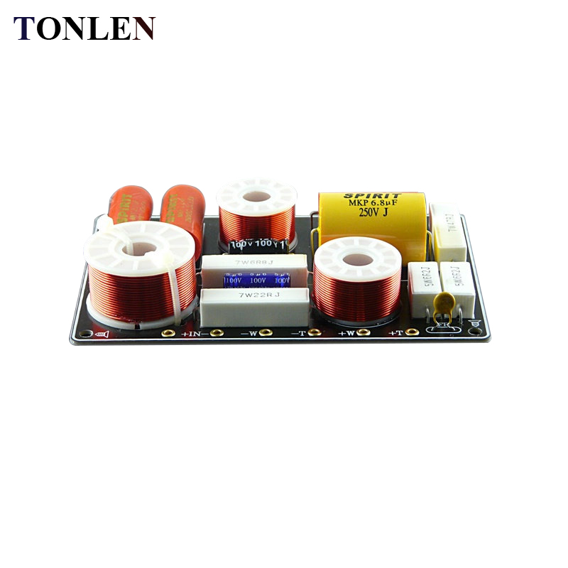 TONLEN 1pcs 2 Way Frequency Divider Audio Crossover Module 150w DIY 4ohm 8 ohm HiFi Frequency Module Divider Home Theater