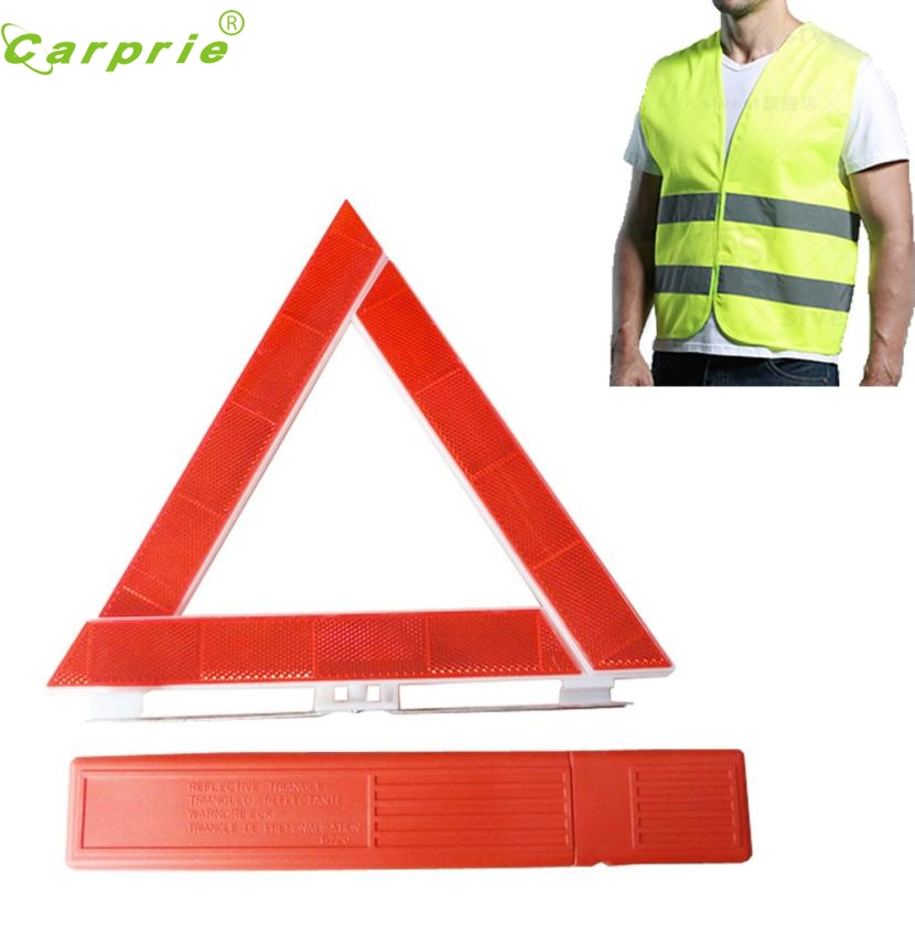 New Arrival Car Breakdown Emergency Reflective Road Warning Triangle and Safety Jacket st13
